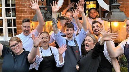The front of house team are celebrating after winning a top award Picture: BRENDAN PADFIELD