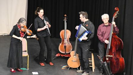 Klezmerized, a Norwich-based band, ended the day with a performance of eastern European Klezmer musi