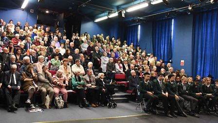 Hundreds of people attended the event in the St Felix School theatre Picture: IAN LOMAS
