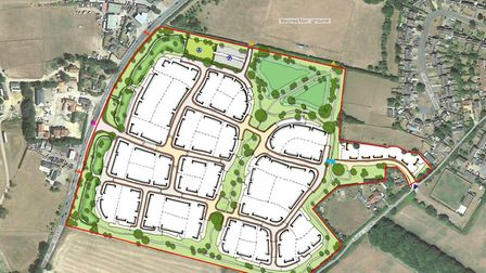 The outline planning application for up to 250 homes at Stanton. Picture: BOYER