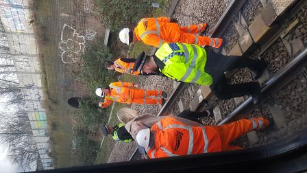 Passengers were rescued with the help of police and Network Rail Picture: WAYNE NUNN