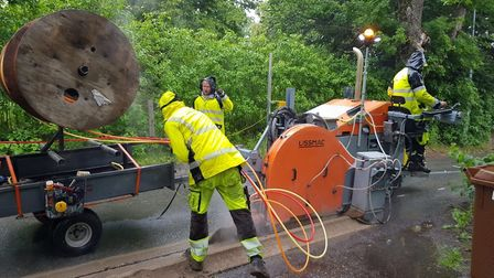 BT Openreach is installing some of the UK's fastest fibre broadband in Saxmundham, Suffolk. Picture: