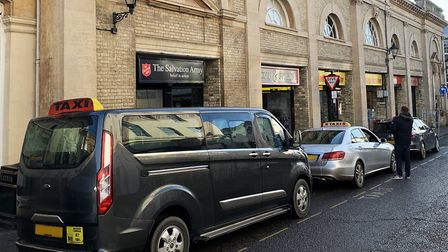 Private hire taxis in Bury St Edmunds. Vehicles could sport a uniform livery under West Suffolk Coun