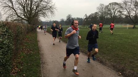 Runners approach the finish to last Saturday's St Albans parkrun. Picture: CARL MARSTON