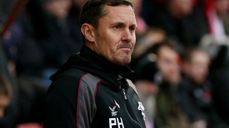 Paul Hurst has left his position as manager of Scunthorpe United. Picture: PA