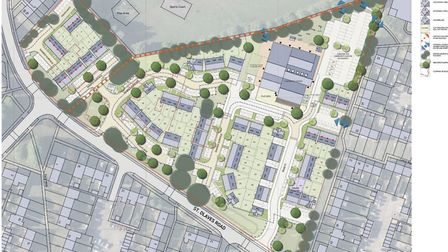 This shows the layout of the development site on the former Howard Primary School site Picture: PEGA