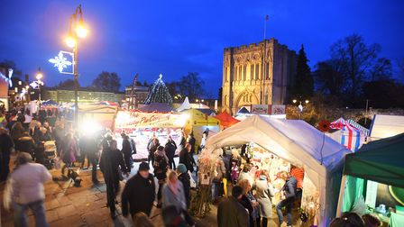 The start of Bury St Edmunds Christmas Fayre in 2016 Picture: GREGG BROWN