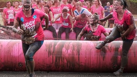 Action from the Ipswich Pretty Muddy 5K event. Picture: Stephen Waller www.stephenwaller.com