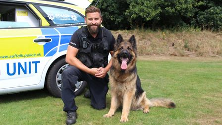 Pc Squirrell and Daley have worked together for six years Picture: SUFFOLK CONSTABULARY