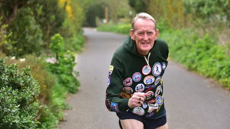Len Cousens from Lowestoft is set to run his 37th consecutive London Marathon. PHOTO: Nick Butche