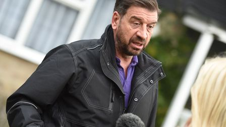 Nick Knowles during the renovation of Simon Dobbin's home Picture: GREGG BROWN