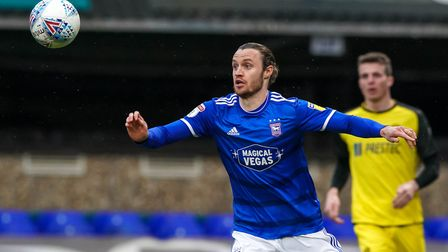 Will Keane is one of only two fit senior strikers for Ipswich Town at present. Photo: Steve Waller