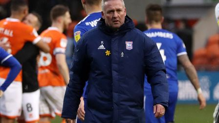 Paul Lambert pictured after Town's 2-1 defeat at Blackpool Photo: ROSS HALLS
