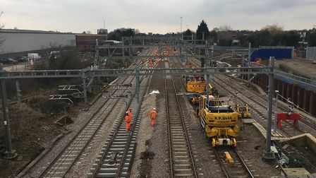 Network Rail is replacing track at Maryland. Picture: NETWORK RAIL