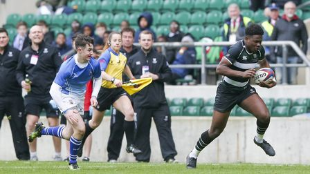 Tyreece Simpson, pictured playing rugby for Langley School at Twickenham. Picture: Gerry McManus/And