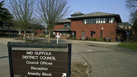 Mid Suffolk's council offices in Needham Market as they were. Picture: JERRY TURNER