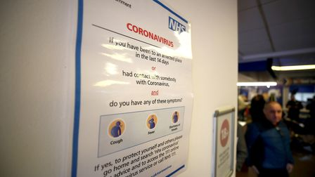 An NHS poster warning people about coronavirus Picture: Tim Goode/PA Wire
