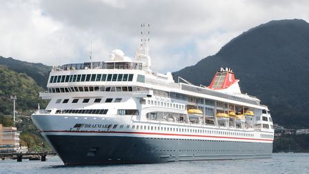 Braemar during an earlier visit to the Caribbean. Picture: FRED. OLSEN CRUISE LINES