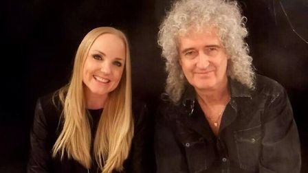 Kerry Ellis with her good friend and musical collaborator Brian May. Photo: Brian May/Fane Productio