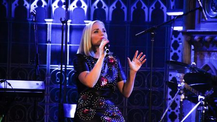Kerry Ellis performing at the Union Chapel in London . Photo: Fane Productions