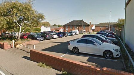 The car park in Bury Street, Stowmarket, which was one of the ones out of action for a month in the