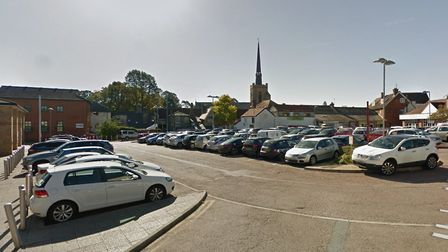 The car park in Union Street, Stowmarket, which was one of the ones out of action for a month in the