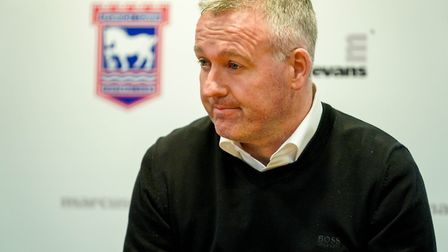 Town manager Paul Lambert pictured during his post match press conference. Picture Steve Waller w