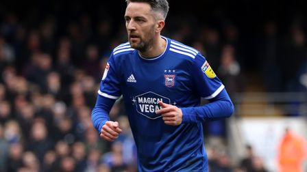 Cole Skuse pictured during Town's 1-0 defeat against Coventry City at Portman Road Photo: ROSS HALLS
