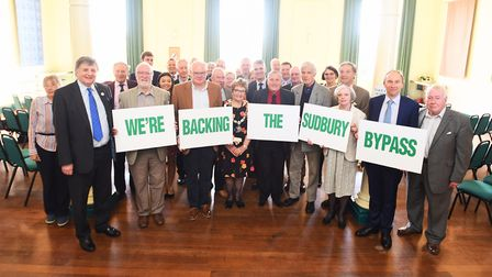 Official launch of Parliamentary petition calling for a long-awaited Sudbury bypass. Picture: GREGG