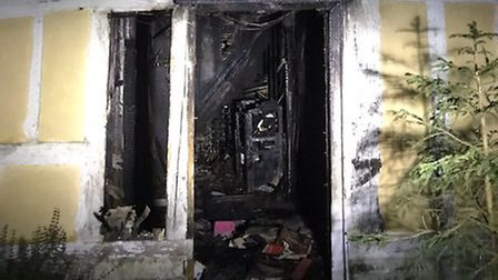 Pictures of a fire in Felsham which left a 79-year-old man with burns and smoke inhalation Picture: