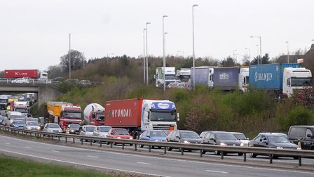 Traffic is often held up at the Copdock Mill interchange. Picture: ARCHANT