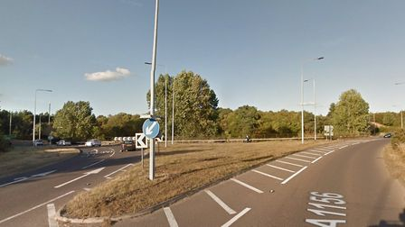 The Seven Hills Interchange on the A12 Picture: GOOGLE MAPS