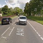 The A140 is blocked in both directions following a crash between a van and a car Picture: GOOGLE MA
