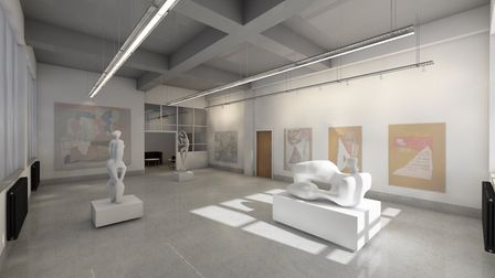 The new hub will also offer exhibition space Picture: THE ART STATION