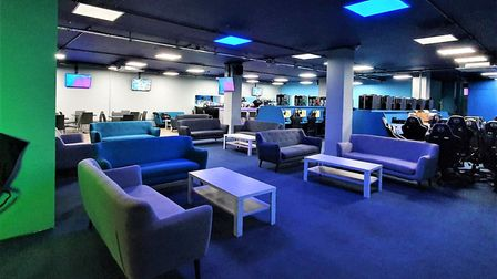 Caffeine Lounge is a chic but comfortable lounge bar for gaming and for socialising. Picture: GEMMA