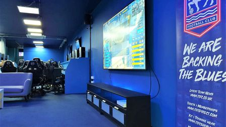 Boasting a 98inch screen TV, Caffeine Lounge is the perfect place for the gamers of today. Picture: