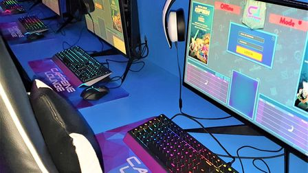 The gaming lounge cafe bar is a safe haven for kids with a special area for under 16's. Picture: GEM