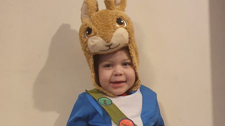 Tommy Airey, age 4, dressed as Peter Rabbit Picture: JAMIE AIREY
