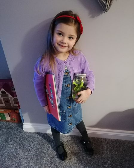 Grace, age 4, dressed as Matilda Picture: CONTRIBUTED