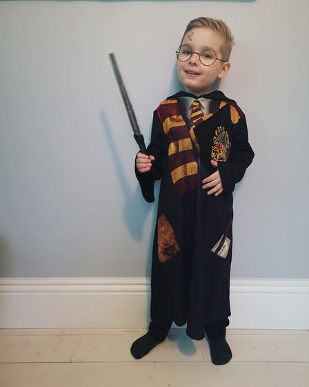 William Styles, age 5, dressed up as Harry Potter Picture: CHARLOTTE GRITTY