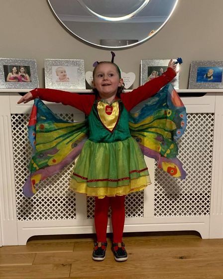 Olivia Biggs, age 4, dress up for World Book Day Picture: LAURA HARVEY