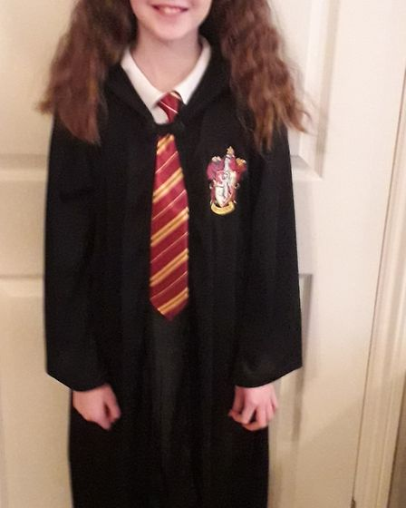 Mia Bloomfield, age 10, dressed as Hermoine Granger from Harry Potter Picture: CONTRIBUTED