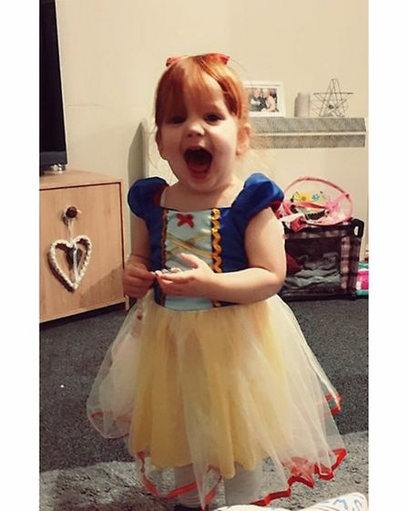 Charley Adams, age 2, dressed as Snow White Picture: CHELSEA ADAMS