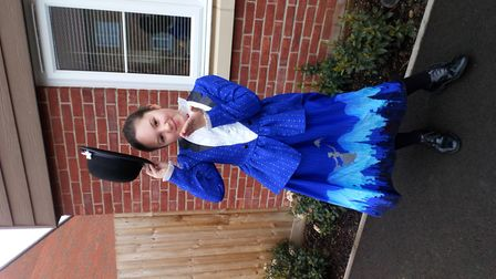 Chloe Smith, age 8, dressed as Mary Poppins Picture: NATALIE SMITH