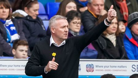 Town manager Paul Lambert pictured on the touchline. Picture Steve Waller www.stephenwaller.com