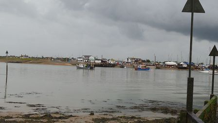 Bawdsey Quay - There is a warning of possible flooding. Picture: ANDREW MUTIMER