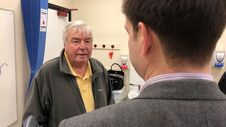 Mr Southworth says the implant has helped his breathing Picture: PA WIRE/ESNEFT