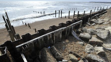 The sea defences infront of Bawdsey Manor, Bawdsey Picture: ANDREW PARTRIDGE