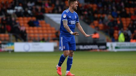 Luke Chambers tries to calm his players at Blackpool. Picture Pagepix Ltd