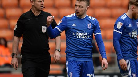 Freddie Sears celebrates during the second half at Blackpool. Picture Pagepix Ltd